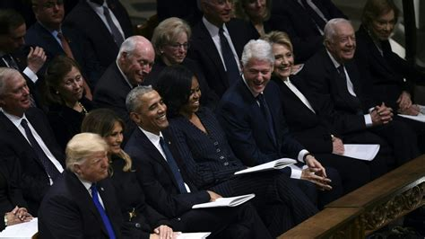 All 5 Living Presidents and First Ladies Sit in Same Row