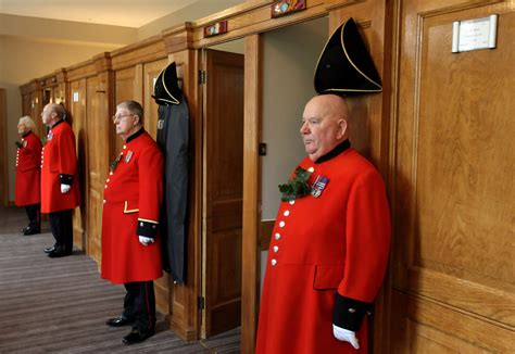 Chelsea Pensioners Participate In The Founder's Parade At